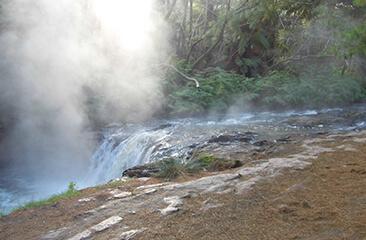 Kerosene Creek Hot Waterfall