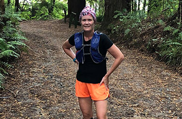 Trail running in the Redwood Forest