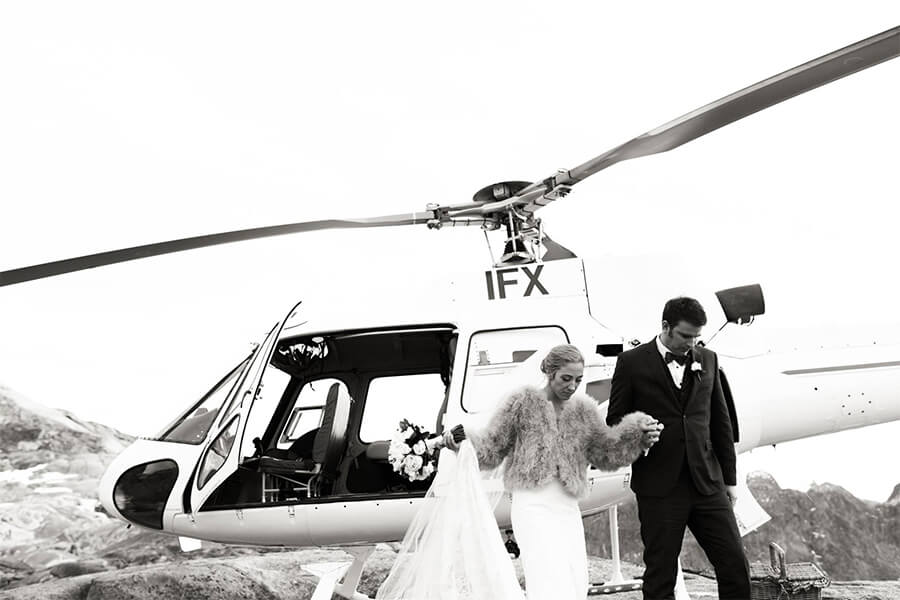 Wedding Venues near Queenstown - Experience Heli Weddings