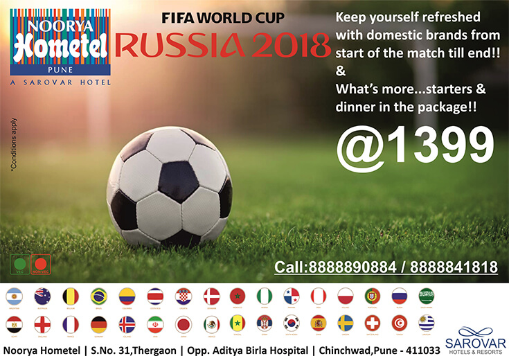 pubs showing football near me, FIFA package, bars showing football Pimpri