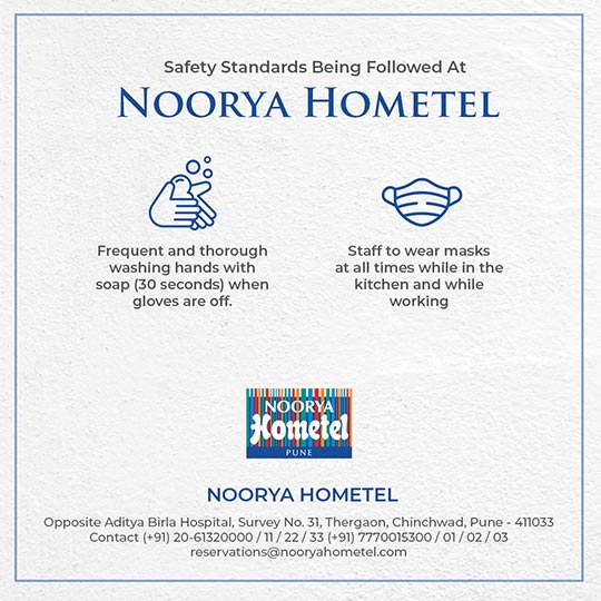 Safety Standards Being Followed at Noorya Hometel