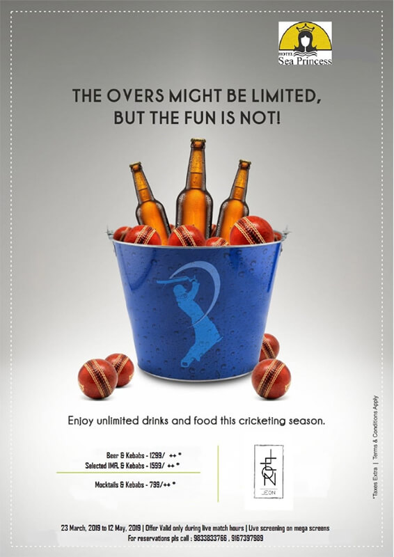 Enjoy unlimited drinks and food this cricketing season