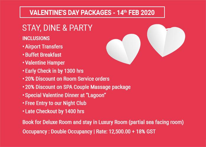 valentine day packages juhu hotels, celebrate valentine's day juhu hotels, valentine's day offer juhu mumbai